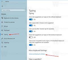 So ändern Sie die Standard-Tastaturbefehle in Windows 10